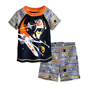 Luke Skywalker PJ Pal Shorts Set for Boys