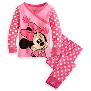 Minnie Mouse Kimono Top PJ Pal Set for Girls