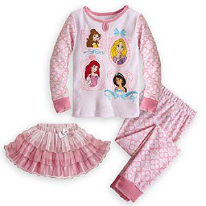 Disney Princess Deluxe PJ Pal and Tutu Set for Girls
