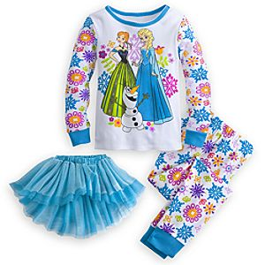 Frozen Deluxe PJ Pal and Tutu Set for Girls