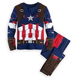 Captain America Costume PJ PALS for Boys - Marvels Avengers: Age of Ultron