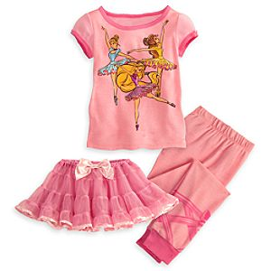 Ballet Disney Princess Deluxe PJ Pal and Tutu Set for Girls