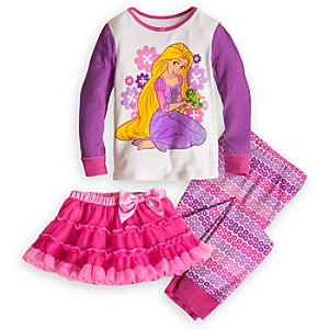 Rapunzel Deluxe PJ Pal and Tutu Set for Girls
