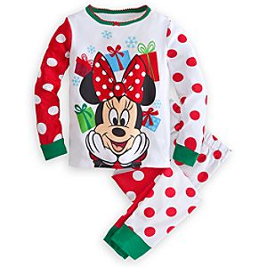Minnie Mouse Holiday PJ Pal for Girls