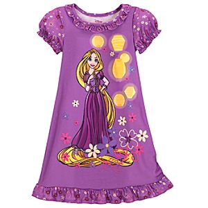 Purple Rapunzel Nightshirt for Girls
