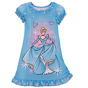 Blue Cinderella Nightshirt for Girls