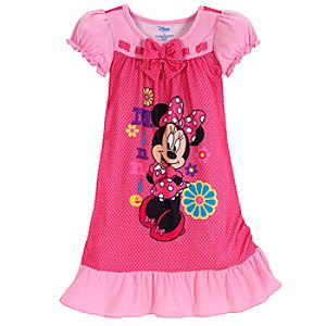Pretty in Pink Polka Dots Minnie Mouse Nightshirt for Girls