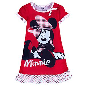 Red Polka Dots Minnie Mouse Nightshirt for Girls