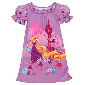 Floral Rapunzel Nightshirt for Girls