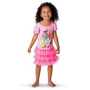 Deluxe Tutu Disney Princess Nightgown for Girls