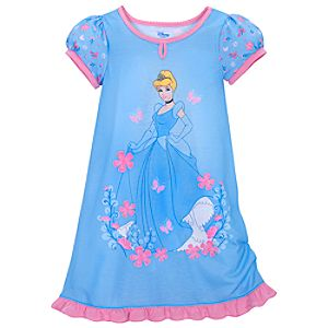 Floral Cinderella Nightshirt for Girls