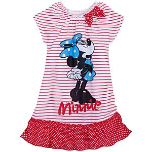 Striped Minnie Mouse Nightshirt for Girls