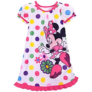 Pink Minnie Mouse Nightshirt for Girls