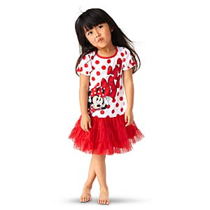 Deluxe Tutu Minnie Mouse Nightgown for Girls