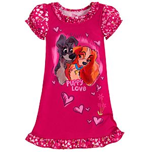 Lady and the Tramp Nightshirt for Girls