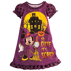 Halloween Minnie Mouse Nightshirt for Girls
