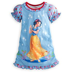 Ruffled Snow White Nightshirt for Girls