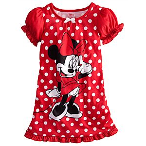 Polka Dot Minnie Mouse Nightshirt for Girls
