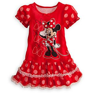 Minnie Mouse Nightshirt Tutu for Girls