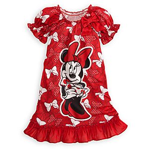 Ruffled Bow Minnie Mouse Nightshirt for Girls