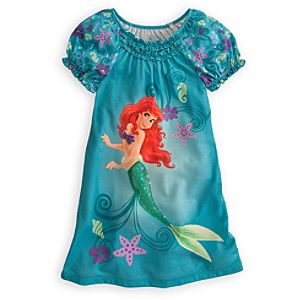 Puff Sleeve Ariel Nightshirt for Girls