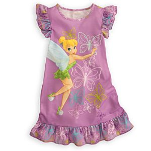 Flutter Sleeve Tinker Bell Nightshirt for Girls