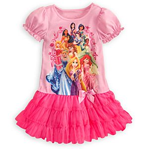 Puff Sleeve Disney Princess Nightshirt Tutu for Girls