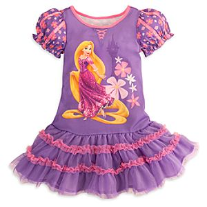 Rapunzel Nightshirt with Tutu for Girls