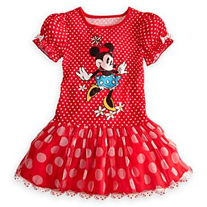 Minnie Mouse Nightshirt with Tutu for Girls