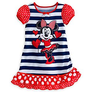 Minnie Mouse Striped Nightshirt for Girls