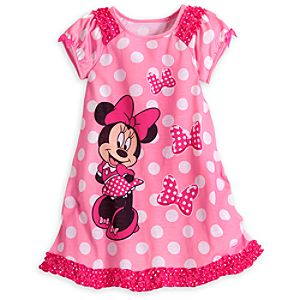 Minnie Mouse Pink Polka-Dot Nightshirt for Girls