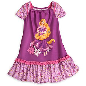 Rapunzel Nightshirt with Cap Sleeves for Girls