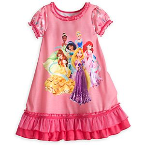 Disney Princess Nightshirt with Organza Ruffle for Girls