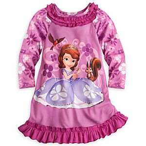 Sofia Long Sleeve Nightshirt for Girls