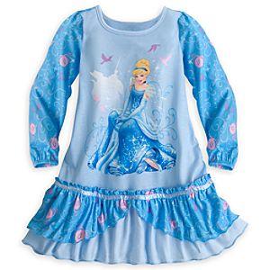 Cinderella Long Sleeve Nightshirt for Girls