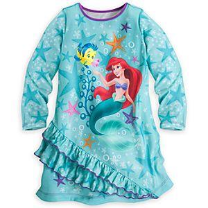Ariel Long Sleeve Nightshirt for Girls