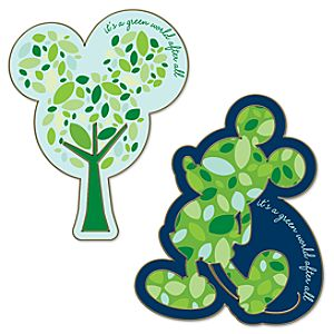 2011 Earth Day Mickey Mouse Pin Set -- 2-Pc.