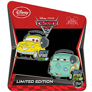 Cars 2 Pin Set: Fillmore and Luigi -- Limited Edition of 350
