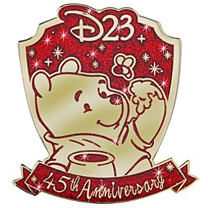 D23 Membership Exclusive 45th Anniversary Winnie the Pooh Pin