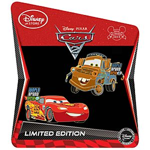 Lightning McQueen and Mater Cars 2 Pin Set -- 2-Pc.