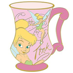 Coffee Cup Tinker Bell Pin
