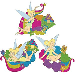Rainbow Tinker Bell Pin Set -- 3-Pc.