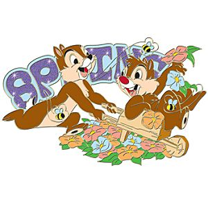 Spring Sparkle Chip an Dale Pin
