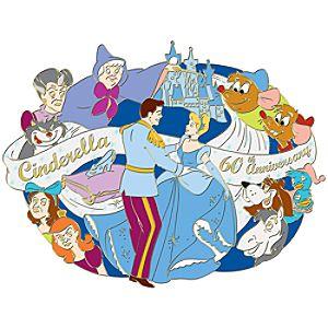 Jumbo 60th Anniversary Cinderella Pin