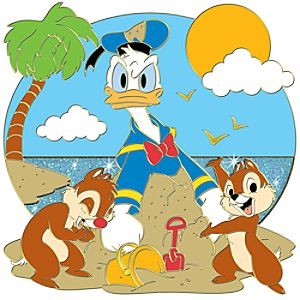 Summer Time Series Donald Duck with Chip an Dale Pin