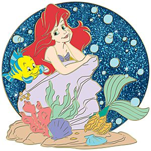 Summer Time Series Ariel & Flounder Pin