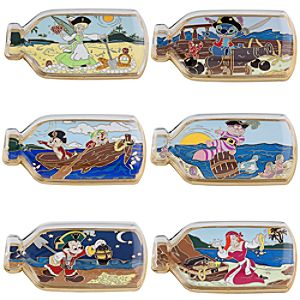 Pirates in a Bottle Pin Set -- 6-Pc.