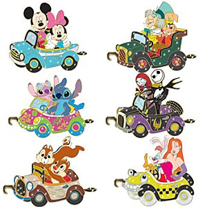 Disney Car Parade Pin Set -- 6-Pc.