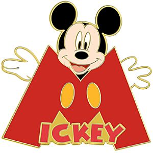 Initial Letter Series Mickey Mouse Pin