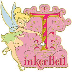 Initial Letter Series Tinker Bell Pin